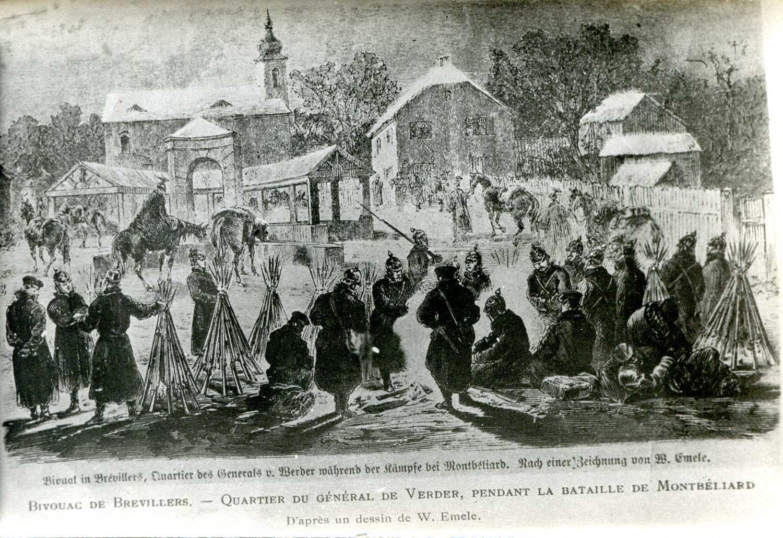 Brevilliers janvier 1871 bivouac quartier general von verder